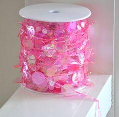 Pink Champagne Bubble Bead Spool - 99 Feet  $27.00