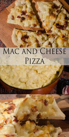 Combining 2 of the most glorious foods - macaroni cheese and pizza! A garlic pizza base topped with mac and cheese, mozzarella and bacon. Mac And Cheese Pizza, Macaroni Cheese, Garlic Pizza, Pizza Bake, Instant Yeast, Vegan Vegetarian, Love Food, Bacon, Drinks