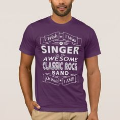 SINGER awesome classic rock band (wht) T-Shirt - metal style gift ideas unique diy personalize