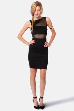 Sexy Black Dress - Cutout Dress - Bodycon Dress - $36.50