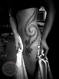 Womens' Polynesian Tattoos | The Tattoo Work of Samuel Morgan Shaw