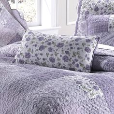 LAVENDER ROSE - QUILTED BEDDING COLLECTION