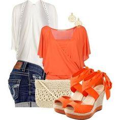 Shorts e accessori arancioni