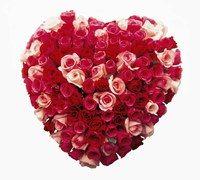Cœur de roses bombé, Au Nom de la rose - Notre sélection de bouquets de fleurs - Un bouquet en cœur, comme une vraie déclaration, rose et rouge, selon l'ardeur des sentiments ! Cœur de roses bombé de 20 à 150 €, Au Nom de la rose Infos sur www.aunomdelarose...