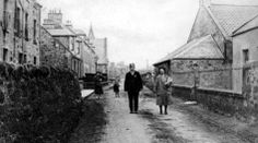 Old photograph of houses and people in St Monans, East Neuk Of Fife, Scotland