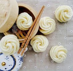 Honey Flower Mantou Steamed Buns
