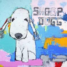 "Saatchi Art Artist Andy Shaw; Painting, ""Snoop Dogg the Bedlington Terrier"" #art"