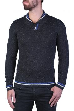 PULL P-EDISSON ANTHRACITE CHINÉ