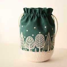 When embroidery meets crochet 💖 by Embroidery Bags, Creative Embroidery, Hand Embroidery Stitches, Floral Embroidery, Cross Stitch Embroidery, Embroidery Patterns, Japanese Embroidery, Textiles, Crochet Motifs