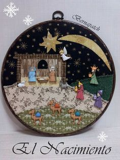Patchwork navidad country new ideas Christmas Clay, Christmas Nativity Scene, Christmas Sewing, Christmas Embroidery, Christmas Makes, Christmas Cross, Christmas Ornaments, Crochet Christmas Decorations, Christmas Crafts For Gifts