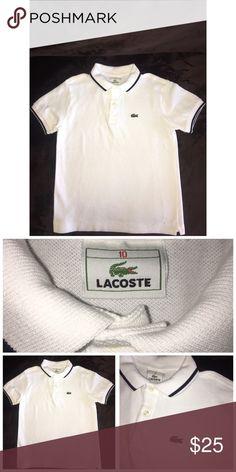 Lacoste Boy's Polo Shirt Pre•loved Lacoste Polo Shirt Size 10 100% Cotton  Peach color  EUC 91117P Lacoste Shirts & Tops