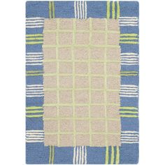 Found it at Wayfair - Kids Taupe & Blue Area Rug