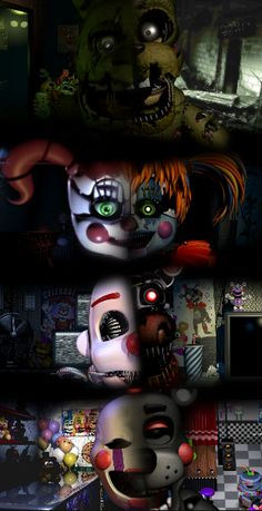 Old-new comparison (Springtrap Baby Ennard and Puppet) Five Nights At Freddy's, Fnaf Jumpscares, Fnaf Story, Foxy And Mangle, Fnaf Wallpapers, Fnaf Sl, Freddy 's, Fnaf Characters, Fnaf Sister Location