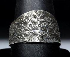 9th C. Viking Silver Man's Ring - Elaborate Motif