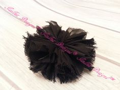 Unfinished Black Ballerina Flower by IsellusDesigns on Etsy