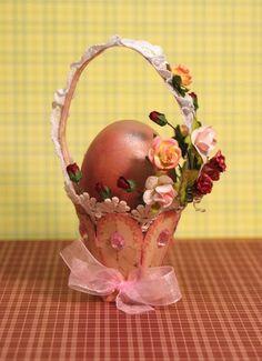 Solountip.com: Como hacer una canasta para huevos de pascua