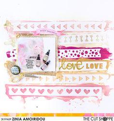 "The Cut Shoppe: Layout by Zinia Amoridou uses the ""Washi Love"" cut file."