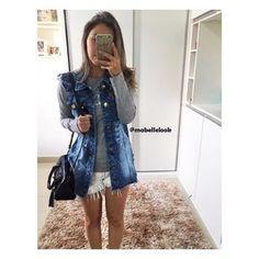 Denim Pencil Skirt, Denim Skirt, Fashion Beauty, Fashion Looks, Fashion Outfits, Womens Fashion, Fashion Trends, Denim Outfit, Mom Style