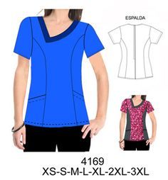 Delantales Spa Uniform, Scrubs Uniform, Scrubs Pattern, Corporate Uniforms, Medical Uniforms, Dress Sewing Patterns, Diy Clothing, Plus Size, How To Wear