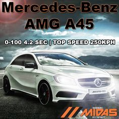 The @MercedesBenz_SA AMG A45 is another true #powerhouse #car from the #worldrenowned #AMG stable. CLICK HERE FOR MORE INFO!