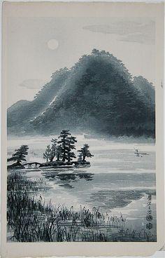 KOTOZUKA Eiichi(琴塚 英一 Japanese, 1906-1976) Hirosawa Pond in the spring…