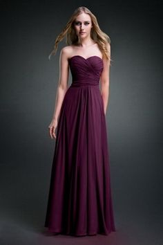 Strapless Dark Purple Bridesmaid Dress  #PurpleBridesmai Dresses  #PurpleWeddings #vponsale