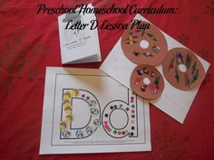 Lesson plan for the letter D for preschool homeschool curriculum.