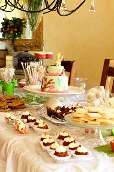 dessert table for tea party © Lucy Munoz Photography