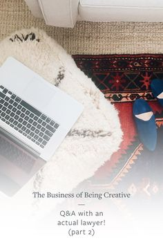 The Business of Being Creative // On the blog this week, my actual lawyer is answering all of your questions and covering topics such as contract negotiations, invoicing, copyright and trademark, forming an LLC, and more! Read more on Jojotastic.com