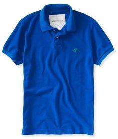 Camisa Polo - Aeropostale - Azul