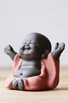 KINGZHUO Ceramic Little Cute Buddha Statue Monk Figurine Creative Baby Crafts Dolls Ornaments Gift Chinese Delicate Ceramic Arts and Crafts (Type Baby Buddha, Little Buddha, Buddha Decor, Buddha Art, Buddha Peace, Buda Wallpaper, Buddha Wallpaper Iphone, Small Buddha Statue, Buddha Statues
