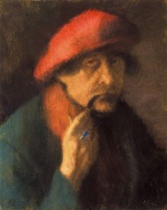 Rippl Self-portrait in a Red Cap - Category:Pastels by József Rippl-Rónai - Wikimedia Commons Post Impressionism, Impressionist, Avant Garde Artists, Moving To Paris, Girls Dress Up, Fauvism, Green Hats, French Art, Female Portrait