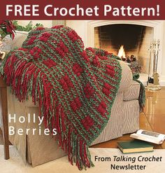 Holly Berries Download from Talking Crochet newsletter. Click on the photo to access the free pattern. Sign up for this free newsletter here: AnniesNewsletters.com.
