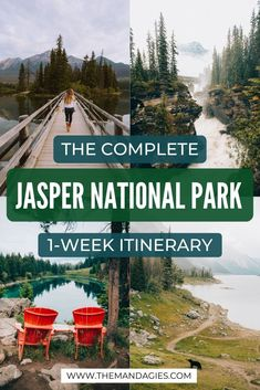 Discover the best Jasper National Park one-week itinerary here! It will take you some of the best spots in Jasper, including Athabasca Falls, Maligne Lake, Pyramid Island, and some secret spots in the Canadian Rockies! See it all here: Canada National Parks, Parks Canada, Banff National Park, Jasper National Park, Canadian Travel, Canadian Rockies, Quebec, Montreal, Vancouver