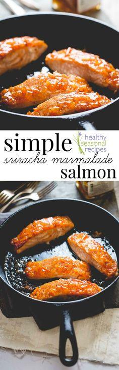 simple sriracha marmalade glazed salmon - Healthy Seasonal Recipes