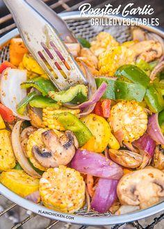 Roasted Garlic Grilled Vegetables
