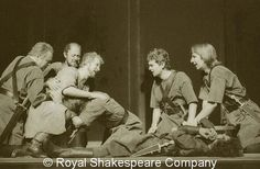 In 1978, Alan Rickman (far right) played a soldier in Peter Brook's production of Antony and Cleopatra.