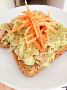 Clean Eating Tuna Salad.  It's made with avocado instead of mayo!