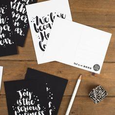 Set of 8 Faith Postcards Postcard Set Christian Prints He First Loved Us, Monochrome Color, Engagement Cards, Postcards, Compliments, Color Schemes, Print Design, Brush Lettering, Christian Gifts
