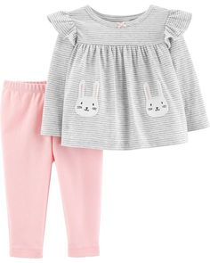 2ea90fcd7abed 2-Piece Bunny Top  amp  Pant Set from Carters.com. Shop clothing