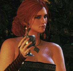 """Will you have a drink with me?"" Triss Merigold #thewitcher3 #awesome #trissmerigold Man I love this picture"