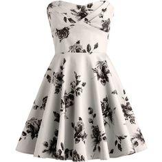Vintage Rose Dress ($100) ❤ liked on Polyvore featuring dresses, vestidos, short dresses, robes, vintage dresses, rose dress, a line cocktail dress and pleated mini dress
