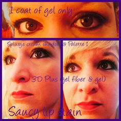 Using + and other Younique products! Fibre Gel, 3d Mascara, Lip Stain, Younique, Palette, Make Up, Lips, Products, Pallets