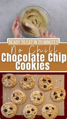 Chocolate Chip Cookies Ingredients, Dough Balls, Gluten Free Flour, Dark Chocolate Chips, Cookie Dough, Cookies Et Biscuits, Baking Soda, Baking Recipes, Cravings
