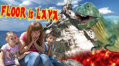 KIDS FLOOR IS LAVA  - THE FLOOR IS LAVA CHALLENGE  PRETEND PLAYTIME With...