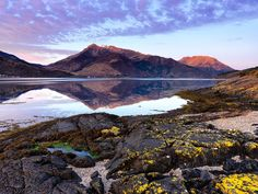 Daybreak on Beinn a' Bheithir across Loch Leven. Image taken on a Hasselblad H3DII-50 camera.