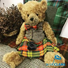 Scottish Ancestral Bear - Fergus. Free worldwide shipping available