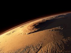 Olympus Mons, Mars. 342 miles wide at it's base and 88,600 feet tall (16.7 miles tall)