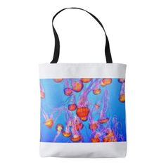 Jellyfish dreams beach/pool tote  $21.10  by Butterflybeestro  - cyo customize personalize unique diy