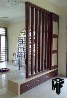 Wondrous Minimalist Interior Design with Room Divider Ideas Divider Design Wooden Partition Design, Wooden Partitions, Living Room Partition Design, Living Room Divider, Room Divider Walls, Room Partition Designs, Room Partitions, Room Partition Wall, Partition Ideas